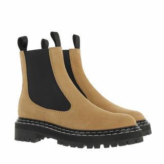 Boots & laarzen - Crosta Suede Calf Combat in white voor dames