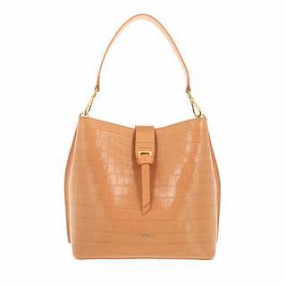 Satchels - Alba Croco Shiny Soft Handbag in beige voor dames