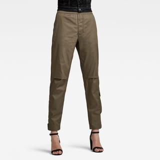 Elasticated waist Pant - Straight Fit - Taillehoogte Normaal