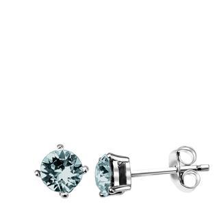 Zilveren oorbellen Swarovski Crystal indicolite