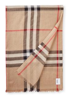 Giant Gauze Check sjaal in zijdeblend 220 x 75 cm