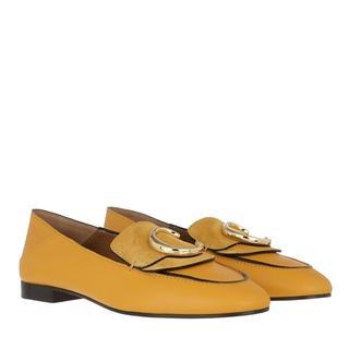 Loafers & ballerina schoenen - C Loafers Leather in geel voor dames