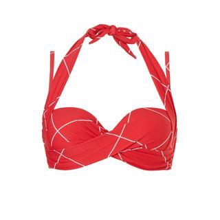 Multiway bikini top Big Check rood