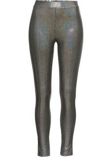 Dames glinsterende legging in grijs