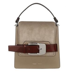 Satchels - Buckle Trapeze Bag Calfskin in grijs voor dames