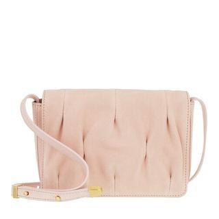 Satchels - Handbag Suede Leather in pink voor dames