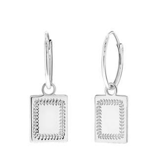 Zilveren oorbellen Romeinse krans