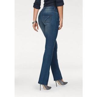bootcut jeans Met contrasterende stiksels Mid waist