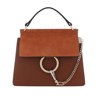 Satchel Bags - Faye Shoulder Bag Leather Classic Tobacco in cognac voor dames