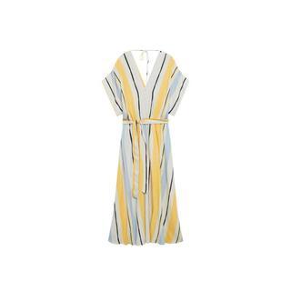 jurk met ceintuur geel