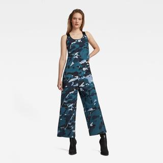 Dungaree Camo Allover Jumpsuit - Straight Fit - Taillehoogte Normaal