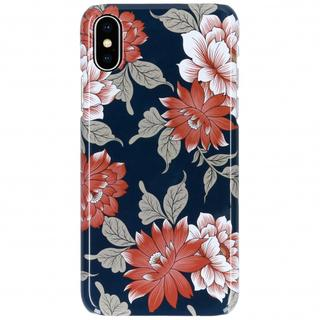 iPhone Xs / X hoesje bloemen blauw - Flowers Passion
