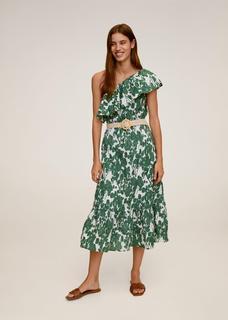 Katoenen jurk met volant