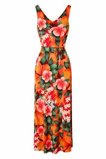 60s Anna El Segundo Maxi Dress in Popsicle Orange