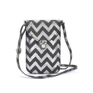 Schoudertas Mini-bag, tasje voor de mobiele telefoon, kan omgehangen worden, in modieuze raffia look