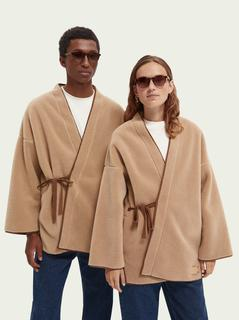 Unisex sherpa kimono jas
