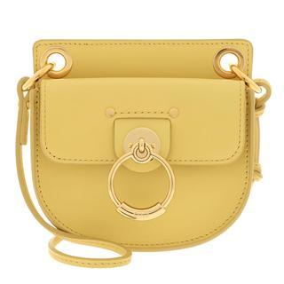 Cross Body Bags - Logo Crossbody Bag Leather Yellow in geel voor dames