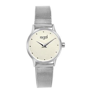 horloge met een zilverkleurige kast en band