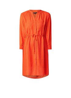 Damina loose fit jurk met stippendessin en trekkoord
