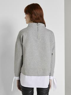 sweatshirt Sweatshirt mit Hemd-Underlayer