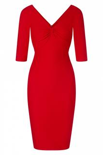 The Kitty Pencil Dress in Lipstick Red
