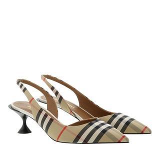 Pumps & high heels - Vintage Check Slingback Pumps in beige voor dames