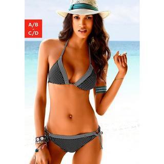 Triangel-bikinitop Avni met patroonmix
