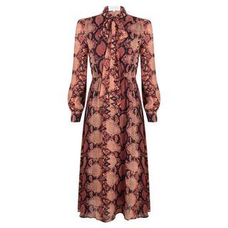 Maxi jurk met slangenprint- Maat S