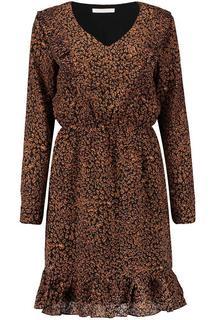 Jurk Miriam Leopard Zwart
