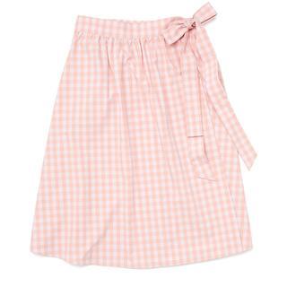 Easy wrap skirt, picnic plaid.