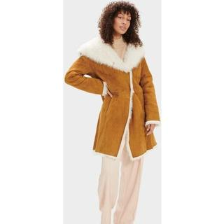 Vanesa Toscana Shearling Coat voor Dames in Chestnut