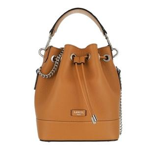 Bucket bags - Ninon Grained Leather Bucket Bag Small in bruin voor dames
