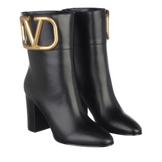 Laarzen - V Logo Ankle Boots Leather Black in zwart voor dames - Gr. 40 (EU)