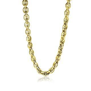 Gold 14 karaat gouden fantasie collier 7,5mm breed 45cm ZGC191