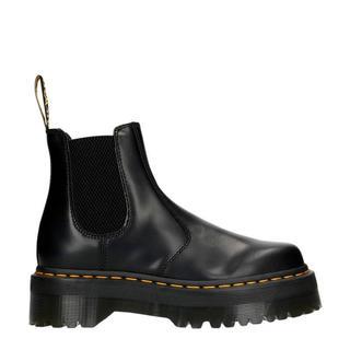 Quad leren chelsea boots zwart