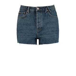 high waist jeans short van biologisch katoen zwart