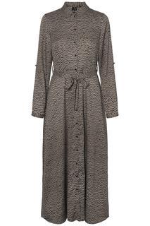 maxi jurk met all-over print