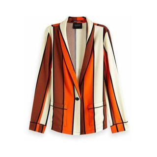 150031 Striped drapey pyjama blazer