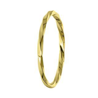 Zilveren ring goldplated twist