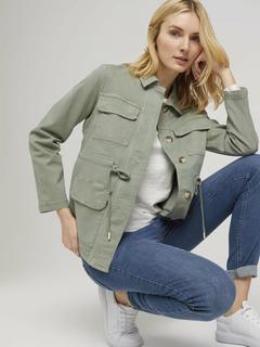NU 20% KORTING: field-jacket Utility-fieldjacket met rijgkoord