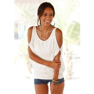 Strandshirt met schoudersplitten