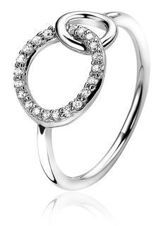 Ring van zilver met zirkonia