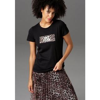 T-shirt Luipaard-applicatie met een opschrift - NIEUWE COLLECTIE