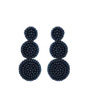 Dark Blue Beads Earrings