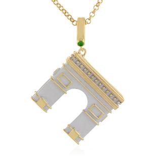 Zilveren halsketting met een tsavoriet