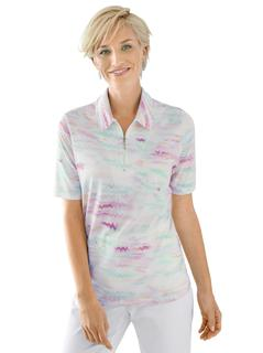 poloshirt met coole multicolourprint