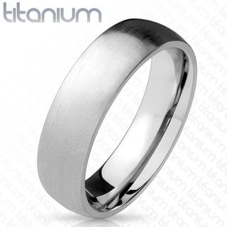 Brush - Zilveren dames en heren ring van titanium met geborstelde look