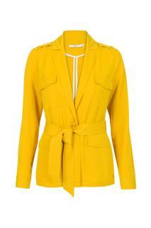Dames Blazer van lyocell geel
