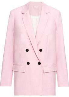 Dames blazer lange mouw in roze