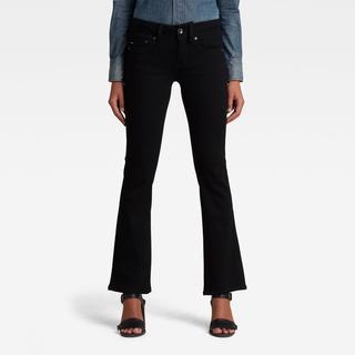 Midge Bootcut Jeans - Zwart - Dames